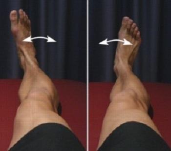 حرکت مچ پا به سمت داخل و خارج