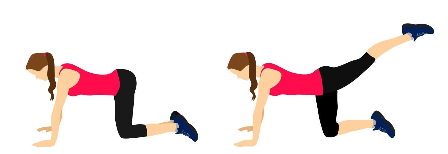 لگد رو به عقب با عضلات سرینی و پا